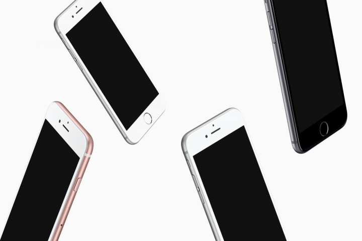 Floating iPhones PSD Mockup