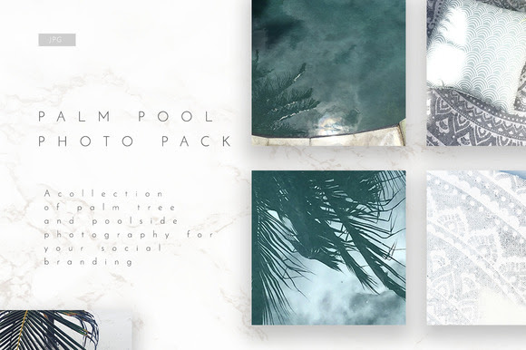 Pool Social Media Photo 5 Pack